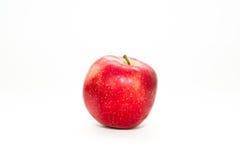 Mela rossa isolata su fondo bianco Immagine Stock Libera da Diritti