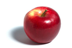 Mela rossa sopra bianco Fotografie Stock Libere da Diritti