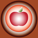 Mela rossa stilizzata di vettore illustrazione di stock