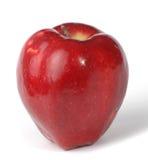 Mela rossa su priorità bassa bianca Fotografia Stock
