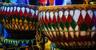 Mela van de Surajkundambacht, dholl, muzikaal instrument Stock Foto