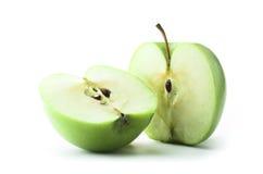 Mela verde affettata Fotografia Stock Libera da Diritti