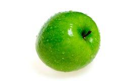 Mela verde bagnata fotografia stock