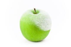 Mela verde congelata Immagine Stock Libera da Diritti