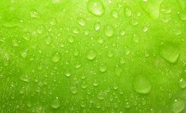 Mela verde del primo piano Fotografie Stock Libere da Diritti