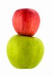 Mela verde e rossa Immagine Stock