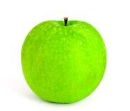 Mela verde fresca isolata fotografia stock libera da diritti