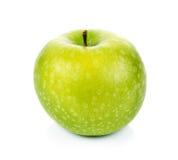 Mela verde isolata su priorità bassa bianca Fotografie Stock Libere da Diritti