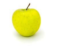 Mela verde isolata su un bianco Fotografia Stock Libera da Diritti