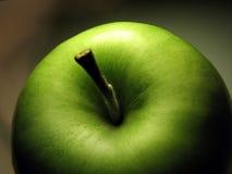 Mela verde a macroistruzione Immagini Stock Libere da Diritti