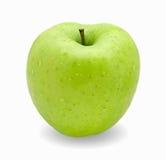 Mela verde su priorità bassa bianca Fotografia Stock Libera da Diritti