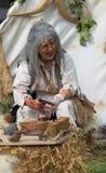Melaatse vrouw Royalty-vrije Stock Afbeelding