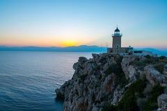 Melagavi Lighthouse! Stock Images