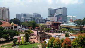 Melaka市视图 图库摄影
