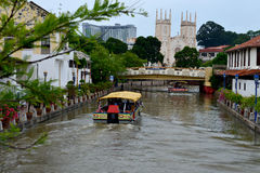 Melaka河巡航 库存图片