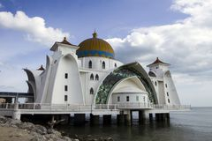 Melaka海峡清真寺 库存图片