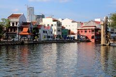 Melaka马来的苏丹王国Watermill 免版税库存图片
