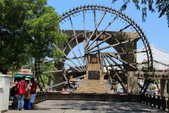 Melaka马来的苏丹王国Watermill 图库摄影