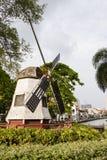Melaka,马来西亚, 2017年12月11日:在Melaka的风车复制品 免版税库存图片