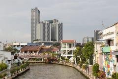 Melaka,马来西亚, 2017年12月11日:马六甲的老镇 库存照片