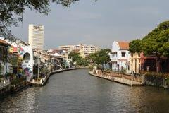 Melaka,马来西亚, 2017年12月11日:马六甲的老镇 免版税库存照片