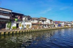 MELAKA, ΜΑΛΑΙΣΊΑ - 29 ΟΚΤΩΒΡΊΟΥ: Όχθη ποταμού στις 29 Οκτωβρίου 2015 σε Mela Στοκ εικόνες με δικαίωμα ελεύθερης χρήσης