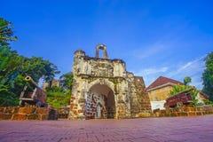 Melaka крепости famosa Оставшаяся часть старого форта стоковое фото