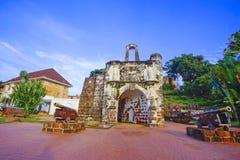 Melaka крепости famosa Оставшаяся часть старого форта стоковые фото
