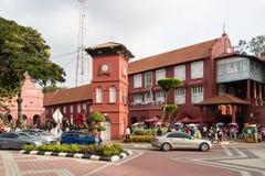 Melaka, Малайзия, 11-ое декабря 2017: Красные здание или Stadhuys Стоковая Фотография