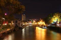Melaka на ноче, Малайзии Стоковая Фотография RF