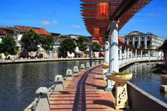 Melaka City Riverbank Royalty Free Stock Photo