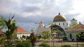 Melaka del selat de Masjid Imagen de archivo libre de regalías