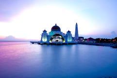Melaka del selat di Masjid Fotografia Stock Libera da Diritti