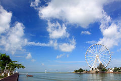 Melaka Ferris Wheel At Seaside Royalty Free Stock Photography