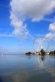Melaka Ferris Wheel At Seaside Stock Photo