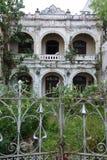 Melaka, Malásia Casa velha de deterioração no bairro chinês imagem de stock royalty free