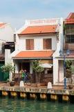 Melaka, Malásia - 22 de março de 2016: Reflexão da rua e Fotos de Stock Royalty Free