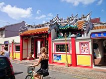 Jonker Street Melaka. MELAKA, MALAYSIA - April 11, 2018 : View around the Jonker Street. Historical road with old building structure. Also known as China town in Stock Photo