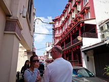 Jonker Street Melaka. MELAKA, MALAYSIA - April 11, 2018 : View around the Jonker Street. Historical road with old building structure. Also known as China town in Royalty Free Stock Photo