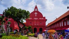 Melaka, malaysia. The beautiful Stadthuy in malaysia malaya Stock Image
