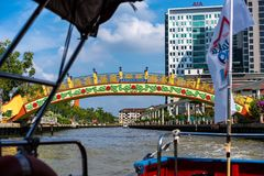 Melaka, Malaysia December 30, 2018: The river cruise, a service provided by the Melaka River Cruise company is a new way to explor stock image