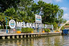 Melaka, Malaysia December 30, 2018: The river cruise, a service provided by the Melaka River Cruise company is a new way to explor royalty free stock photo