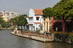 Melaka, Malaysia, am 11. Dezember 2017: Die alte Stadt von Malakka Lizenzfreie Stockbilder