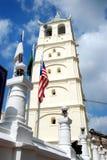 Melaka, Malesia: Minareto della moschea storica Immagine Stock Libera da Diritti