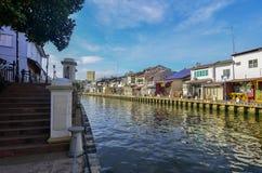 MELAKA, MALESIA - 29 OTTOBRE: Riva del fiume il 29 ottobre 2015 in Mela Fotografia Stock