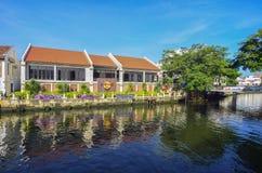 MELAKA, MALESIA - 29 OTTOBRE: Riva del fiume il 29 ottobre 2015 in Mela Immagini Stock Libere da Diritti