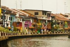Melaka, Melacca brzeg rzeki w Malezja Fotografia Royalty Free