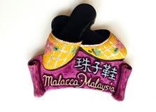 Melaka a perlé des chaussons Photographie stock