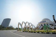 Planetarium Malacca. The Melaka Planetarium is a planetarium in Ayer Keroh, Central Melaka District, Melaka, Malaysia stock photo