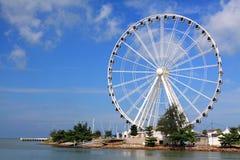 Melaka Riesenrad an der Küste Lizenzfreie Stockfotografie